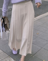 Autumn and winter retro grain pleated long skirt
