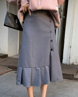 Pleated slim business suit temperament long skirt