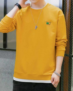 Pullover loose tops round neck hoodie for men
