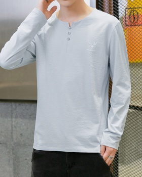 Autumn long sleeve T-shirt Casual bottoming shirts for men