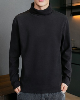 Autumn bottoming shirt half high collar tops for men