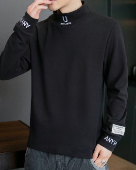 Long sleeve slim T-shirt elasticity bottoming shirt for men