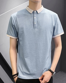 Fashion pure summer shirts boy youth T-shirt for men