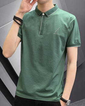 Led lapel short sleeve T-shirt summer elasticity tops