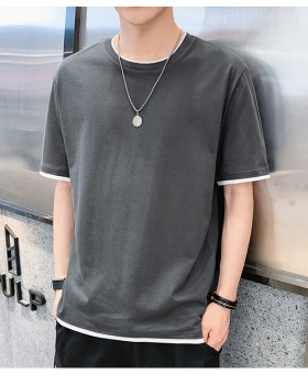 Boy summer short sleeve tops fashion pure cotton T-shirt