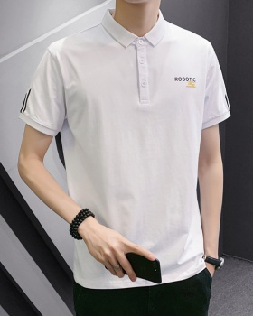 Student lapel summer T-shirt short sleeve bottoming tops