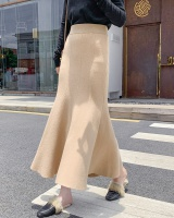 Knitted high waist skirt long long skirt for women