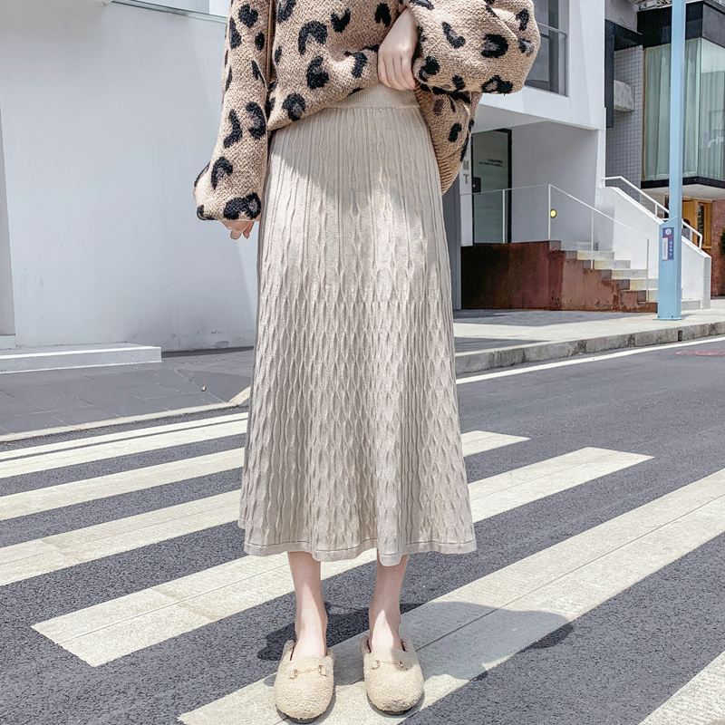 High waist all-match autumn and winter skirt for women