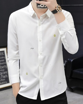 Slim business Korean style Casual square collar shirt