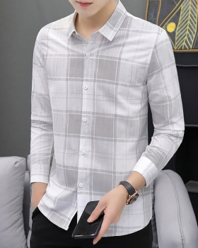 Non-ironing light business shirt slim plaid shirts