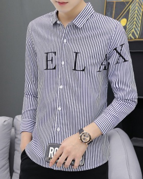 Fashion stripe shirt long sleeve shirts for men