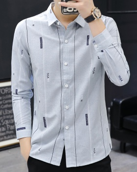 Slim business autumn shirts Korean style Casual fashion shirt