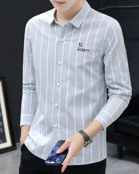 Fashion plaid slim pure cotton shirt for men