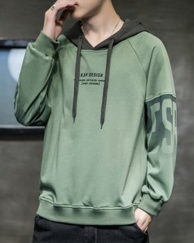 Hooded boy spring and autumn tops hip-hop loose thin hoodie