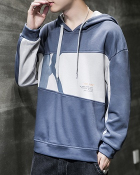 Autumn loose hooded letters all-match printing hoodie