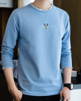 Long sleeve autumn round neck T-shirt for men