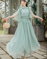 Green dress vacation long dress