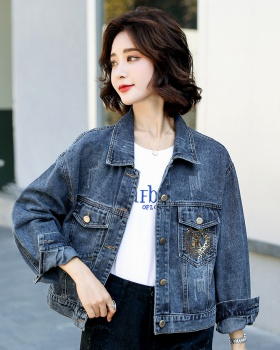 Long sleeve denim coat Korean style tops for women