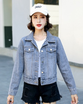 Autumn embroidery fashion loose daisy jacket for women