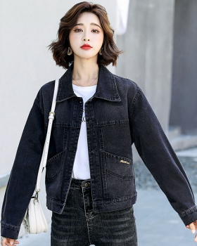 Slim denim tops spring and autumn jacket for women