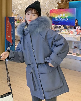 Winter long down coat thick cotton coat for women