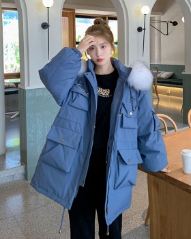 Winter college style cotton coat long coat