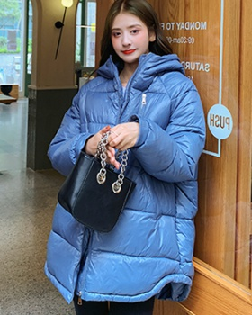 Student slim cotton coat long thick coat