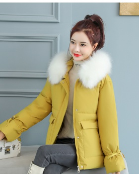 Large fur collar down coat Korean style cotton coat