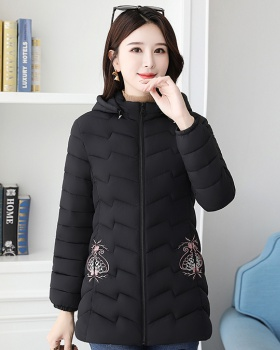 Middle-aged thin cotton coat short thermal tops for women