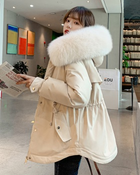 Down Korean style coat thick cotton coat for women