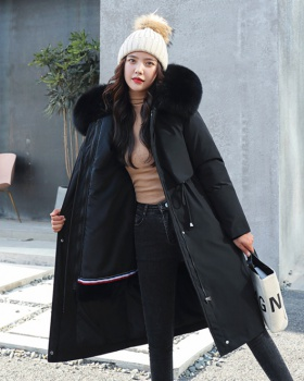 Liner down lambs wool winter cotton coat for women