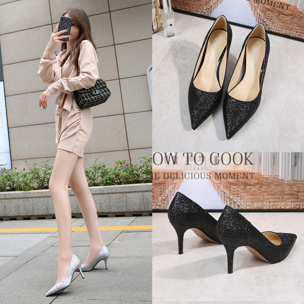 Pointed high-heeled shoes fine-root shoes for women