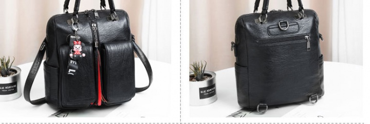 All-match diagonal backpack fashion portable backpack
