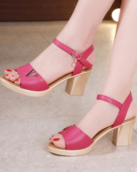 Fashion summer sandals middle-heel platform for women