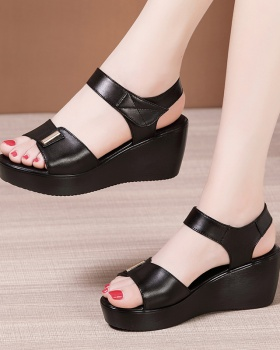 All-match summer sandals trifle velcro shoes for women