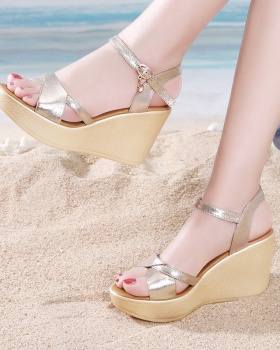Summer fish mouth sandals slipsole platform for women