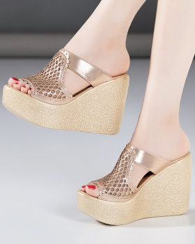 Thick crust slippers fashion platform for women