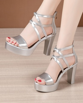 Open toe rome platform thick crust catwalk sandals