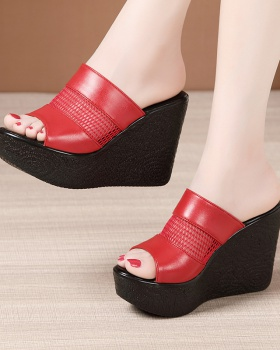 Heighten fashion slippers high-heeled trifle platform for women