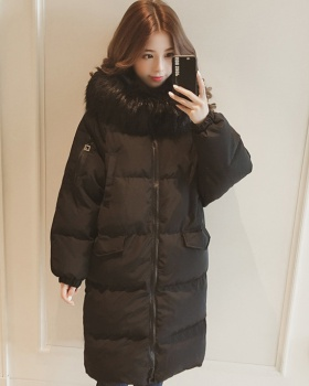 Down long bread clothing Korean style coat for women