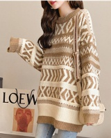 Loose wears outside sweater pullover tops for women