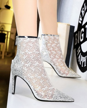 Transparent fashion women's boots hollow short boots