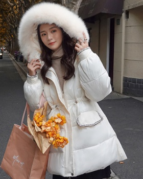 Large yard Korean style cotton coat long down coat