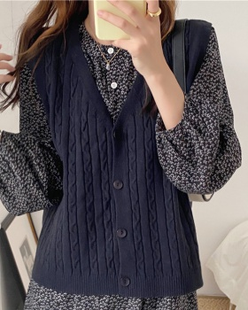 Korean style V-neck sweater breasted all-match cardigan