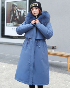 Korean style exceed knee winter coat loose down cotton coat