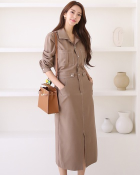 Slim pinched waist Korean style fashion dress