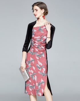 Ladies temperament splice slim European style dress