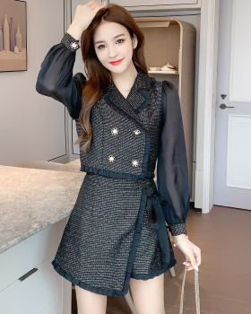 Woolen short skirt business suit 2pcs set