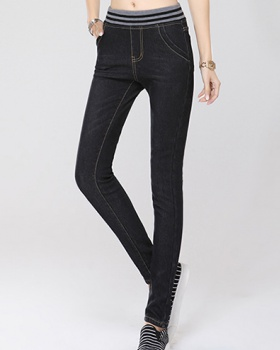 Winter pencil pants denim pants for women