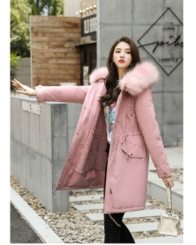 Korean style down coat fur collar cotton coat for women